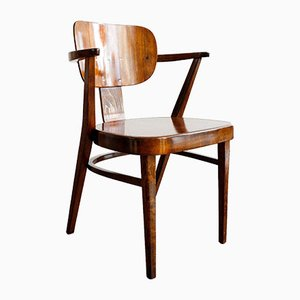 Wooden Dining Chair from Ligna, Czechoslovakia, 1930s