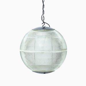 Lámpara de techo esférica de Holophane, años 50