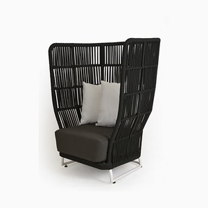 Design Armchair with High Backrest Outside from VR