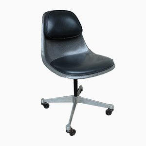 Mid-Century Elephant Grey PSCC-4 Swivel Chair by Charles & Ray Eames for Herman Miller