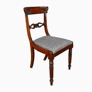 Regency Mahogany Dining Chairs, Set of 6