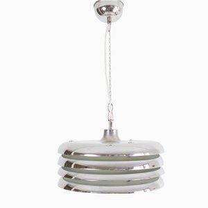 Vintage Chrome Pendant Lamp by Tamas Borsfay