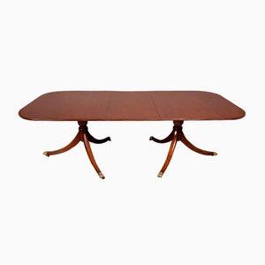 Regency Style Mahogany Pillar Dining Table