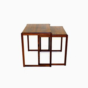 Swedish Rosewood Nesting Tables, 1960s