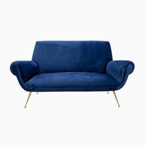 Mid-Century Velvet Sofa by Gigi Radice for Minotti, 1950s