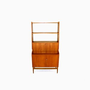 Mid-Century Swedish Teak Wall Unit, 1950s