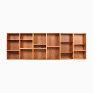 Oak Wall-Mounted Bookcases from Søren Willadsen Møbelfabrik, 1950s, Set of 3