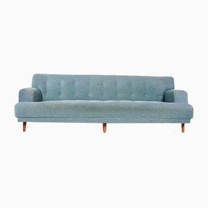 Mid-Century Velvet Sofa, 1950s
