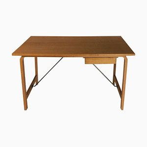 Danish Saint Catherines Desk in Oak by Arne Jacobsen for Fritz Hansen, 1960s