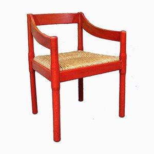 Mid-Century Italian Carimate Armchair by Vico Magistretti for Mario Luigi Comi