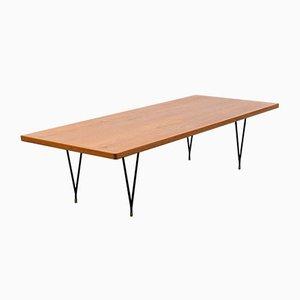 Mid-Century Teak Coffee Table with Metal Legs, 1960s