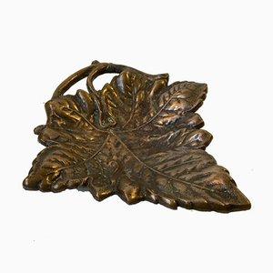 Skulpturale Art Deco Schale aus Bronze, 1930er