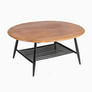 Mid-Century Elm Model 454 Coffee Table by Lucian Ercolani for Ercol, 1960s