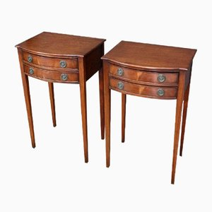 Mahogany Nightstands, Set of 2