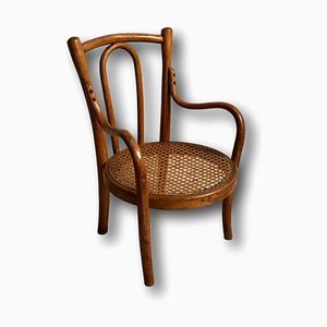 Antique Bentwood and Cane Childrens Chair