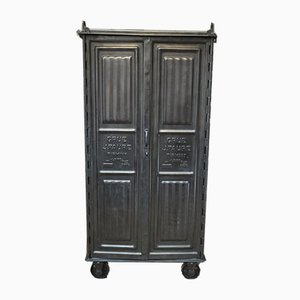 Antique Riveted Wardrobe from Firmini, 1910s