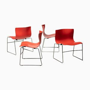 Handkerchief Dining Chairs by Massimo and Lella Vignelli for Knoll International, 1996, Set of 4