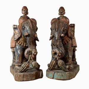 Bemalte Elefanten von Rajasthan, 2er Set