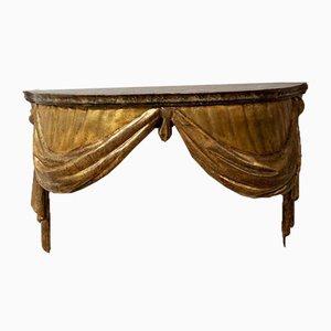 Consola italiana pintada y dorada, siglo XIX