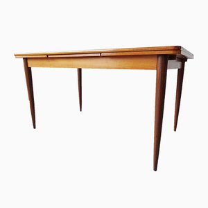 Large Mid-Century Extendable Teak Dining Table
