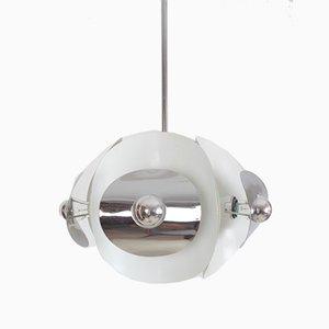 Verchromte Mid-Century Deckenlampe