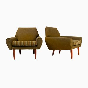Danish Lounge Chairs Attributed to Kurt Østervig for Ryesberg Møbler, 1960s, Set of 2