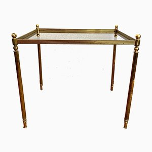 Mid-Century Golden Brass Side Table, 1970s