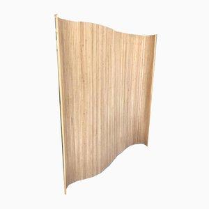 Tambour Raumtrenner aus Holz im Stil von Alvar Aalto