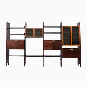 Italian Rosewood Bookcase by Vittorio Dassi for Dassi, 1950s