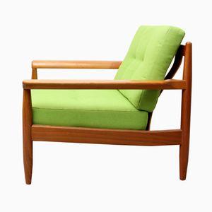 German Vintage Apple Green Armchair