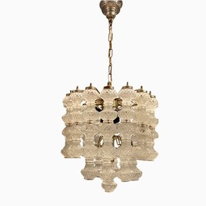 Mid-Century Crystal Bubble Chandelier by Paolo Venini, 1970s