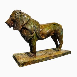 Bronze Lion Of Nubia Sculpture after Rembrandt Bugatti, 1920s