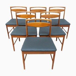 Sedie da pranzo Mid-Century in teak di AH McIntosh, anni '60, set di 6