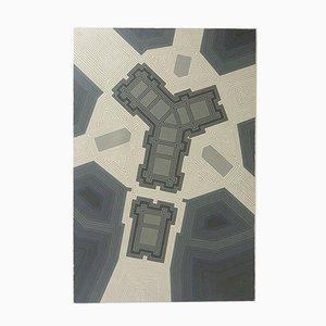 Peinture Abstraite Géométrique Mid-Century par Gerald Rickards