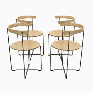 Chaises Pliables Sóley par Valdimar Harðarson pour Kusch + Co, 1980s, Set de 4