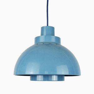 Blaue Minisol Hängelampe von K Kewo für Nordisk Solar, 1960er