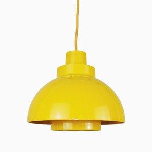Gelbe Minisol Hängelampe von K Kewo für Nordisk Solar, 1960er
