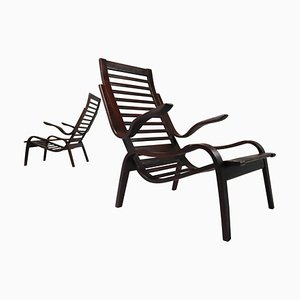 Bentwood Armchairs by Jan Vanek for UP Zavodny, 1930s, Set of 2