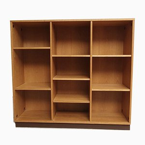 Mid-Century School Bookcase Shelving Unit