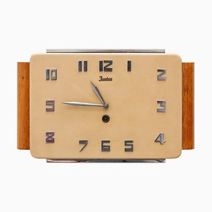 Art Deco Wall Clock from Junghaus, Germany, 1930s