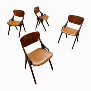 Danish Dining Chairs by Arne Hovmand Olsen for Mogens Kold, 1950s, Set of 4