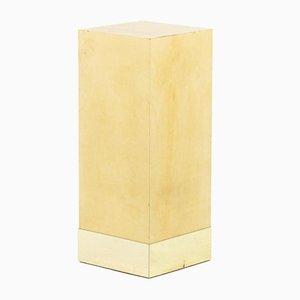 Stand ricoperto di pergamena attribuito ad Aldo Tura, anni '50