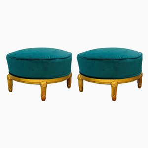 Art Deco Poufs Attributed to Maurice Dufrésne, 1920s, Set of 2