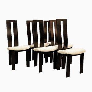Esszimmerstühle von Pietro Costantini für Ello, 1970er, 6er Set