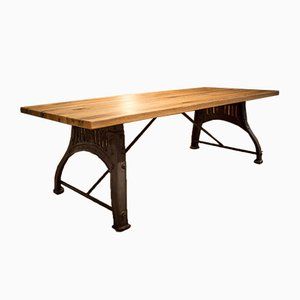 Antique Oak Dining Table by Bamford