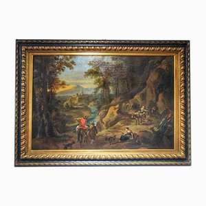 18th Century Flemish Grand Tour Sicilian Landscape Painting