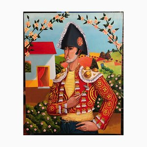 Bullfighter Oil Painting by Vito Cano, 2000s