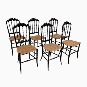 Chiavarine Dining Chairs, 1950s, Set of 6