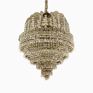 Mid-Century 5-Tier Crystal Chandelier