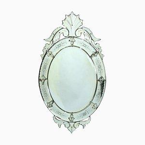 Italienischer Spiegel aus Muranoglas, 1920er
